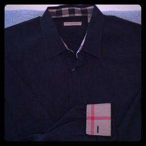 NWOT Men's Authentic Black Burberry Shirt